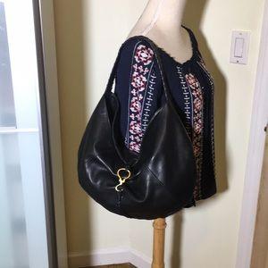 Lauren Ralph Lauren black leather hobo bag b93e98e5c6a5f